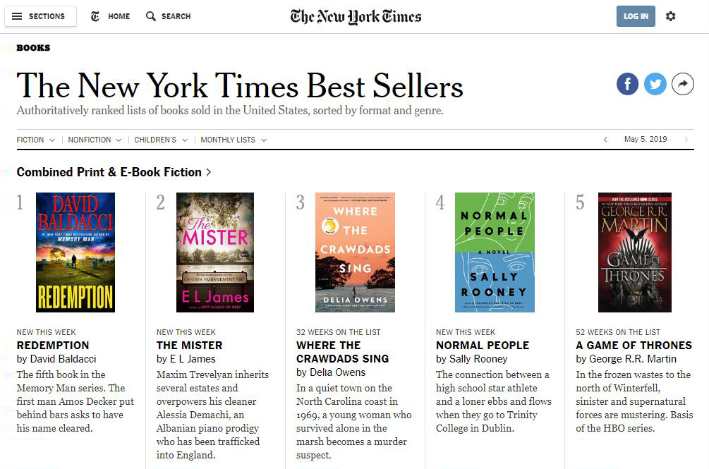 Check out these New York Times Best Sellers! | Marathon