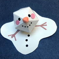 snowman craft and book