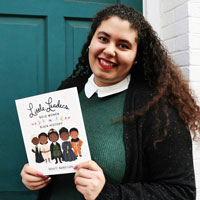 Kayley McColley holding Little Leaders book