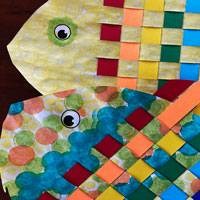 crafted colorful fish