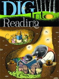 """Dig Into Reading"" poster"