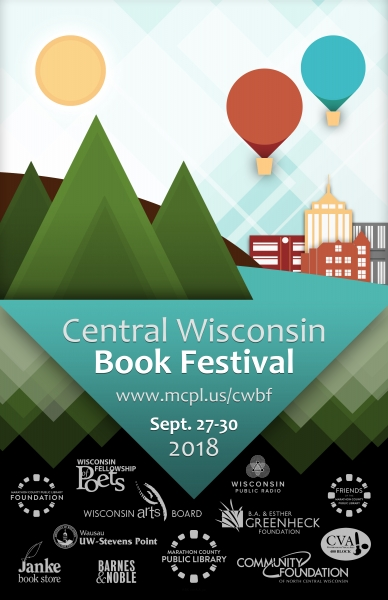 Central Wisconsin Book Festival 2018 poster