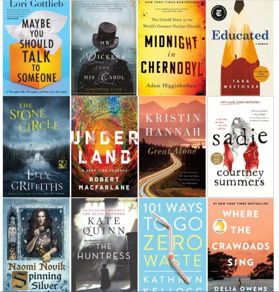 book covers of some of this year's staff picks
