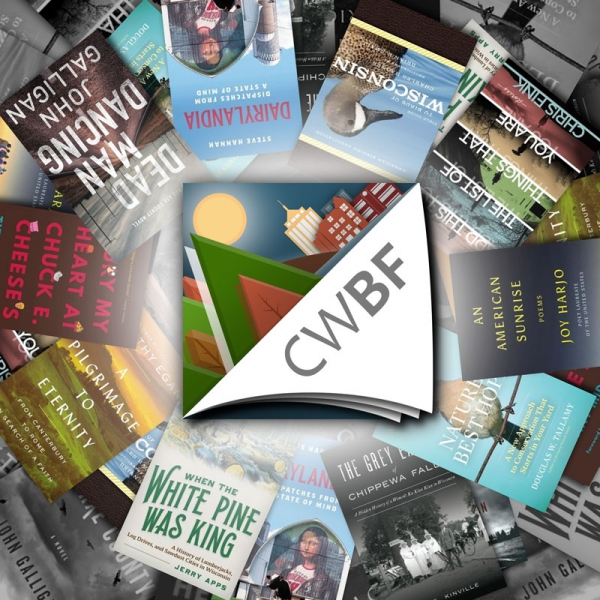 CWBF logo with featured book covers