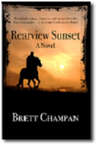 """Rearview Sunset"" book cover"