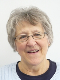 Sue, a library volunteer