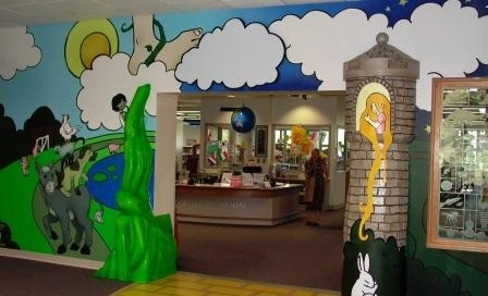 entrance the the children's area at MCPL Wausau