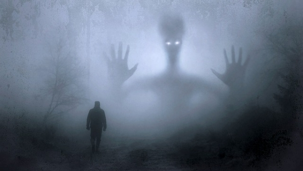 giant ghost in the fog