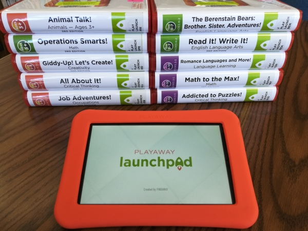 Playaway Launchpads and tablet