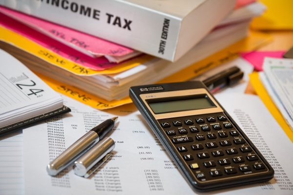 tax forms and tax preparation materials
