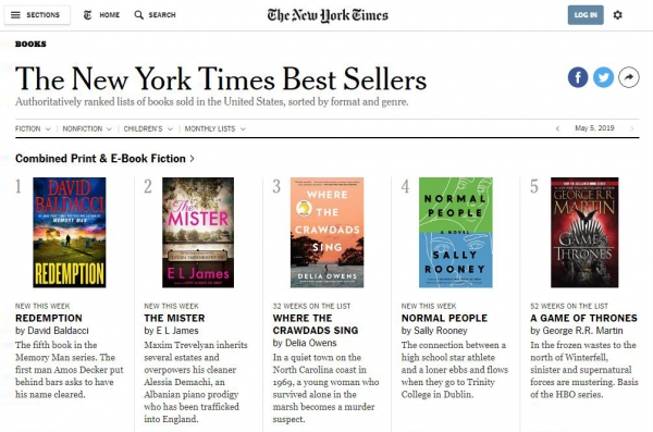 New York Times Best Sellers 2019 April Check out these New York Times Best Sellers! | Marathon County
