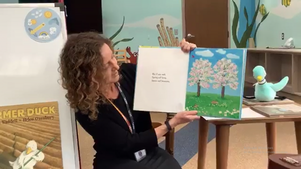 screen capture of Laura L.'s virtual story time