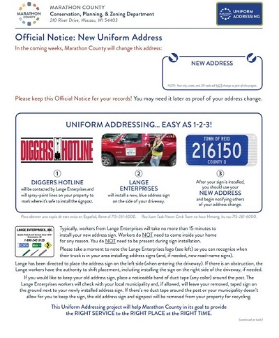 Uniform Addressing official notice