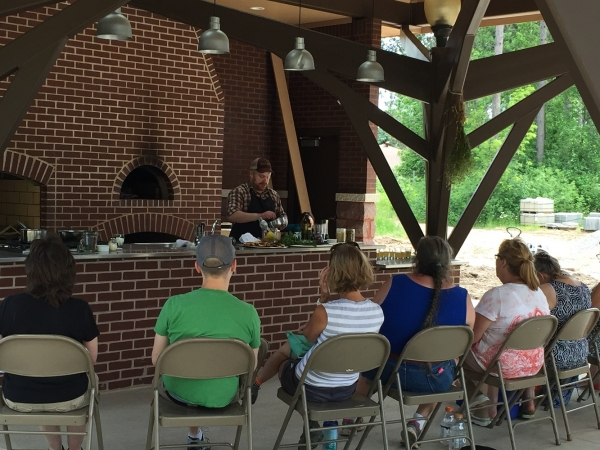 MCPL cooking event at Monk Gardens