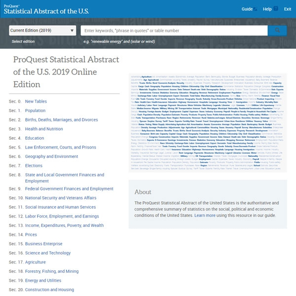 Statistical Abstract of the U.S. screenshot