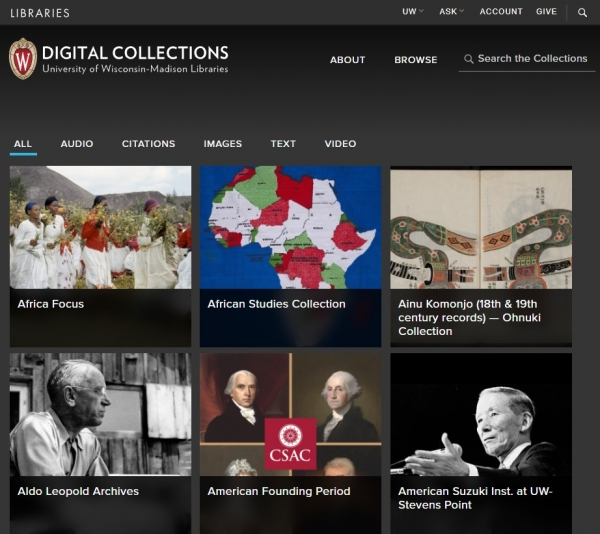University of Wisconsin Digital Collections