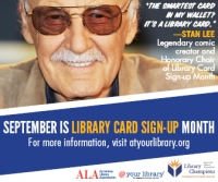 Stan Lee - Library Card Sign-up Month