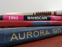 A photo of local yearbooks taken by Dan R.