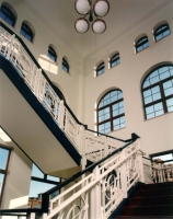 grand staircase at MCPL Wausau