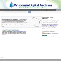 Wisconsin Digital Archive screenshot
